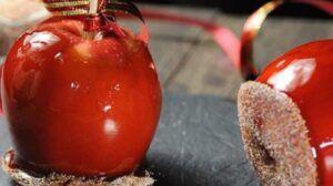 Receta de manzanas confitadas chilenas
