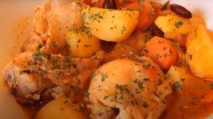 Receta de estofado de pollo chileno y de campo